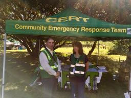 two of our morning volunteers