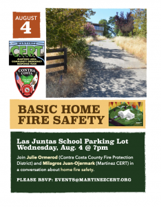 Basic Home Fire Safety class flyer