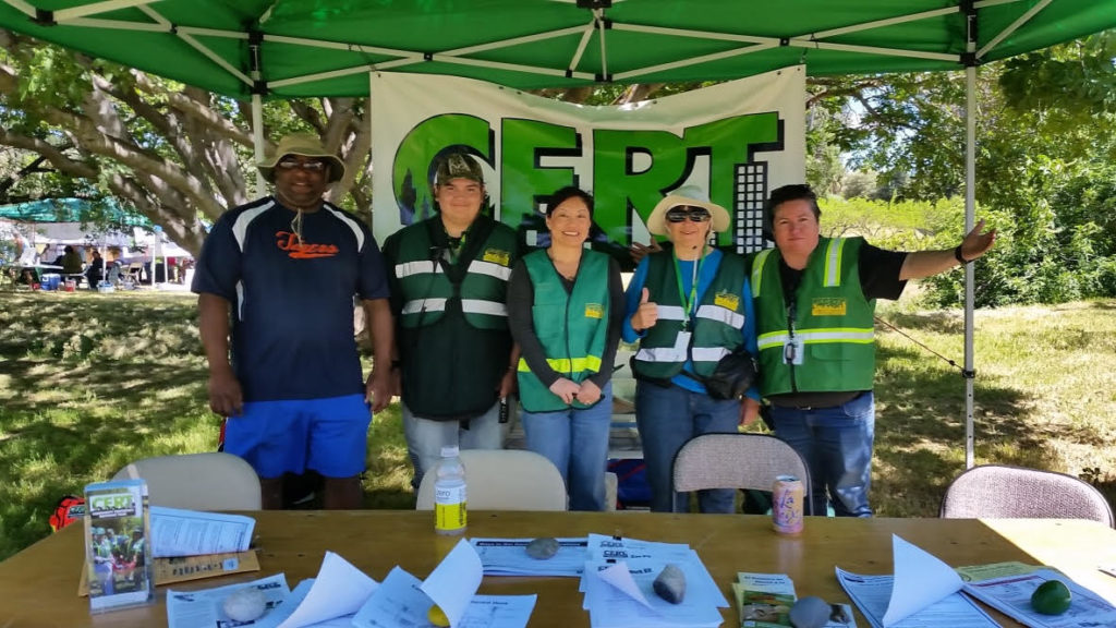 CERT Volunteers in the booth (Earth Day 2019)
