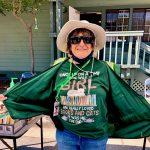 Cathy O wears Book Girl teeshirt