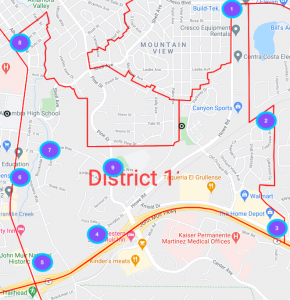 Test comms spots in District 11