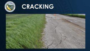 photo of road cracking