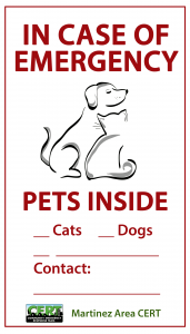 door sign indicating pets are inside