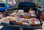truckload of books for donation
