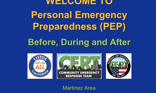 Personal Emergency Prep: Nov. 2020