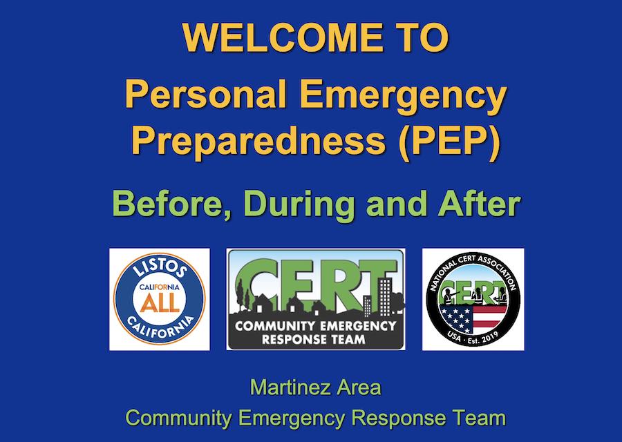 Personal Emergency Prep: Nov. 2020